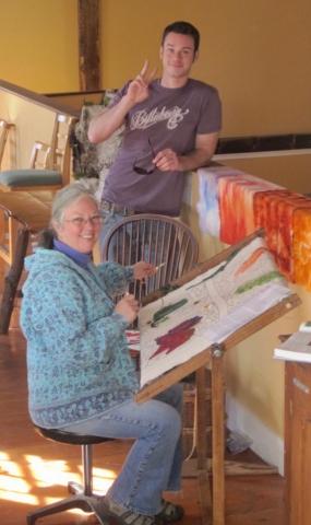 Linda Ann Johnston Reinhart doing Trillium Art